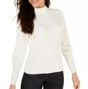 Leyden Womens Ribbed Mock-Neck Pullover Sweater XL